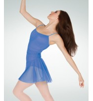 Body Wrappers P735 Camisole Power Mesh Skirted Leotard